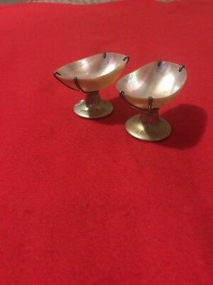 2 X Mother Of Pearl Caviar Dishes