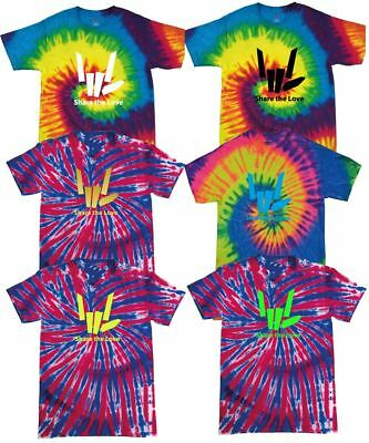 ColorTone Tie Dye Kids T Shirt Share The Love Stephen Sharer Music Festive Boys