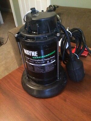 New Wayne Spt33 Submersible Plastic Usa Made 1/3 Hp Water Sump Pump & Switch