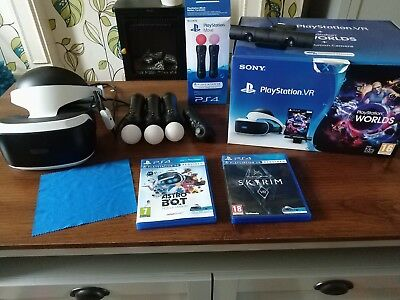 Sony playstation vr bundle Inc camera, all leads, games and 3 motion controllers