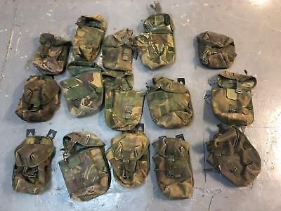 Job lot of 15 British army surplus DPM camouflage pouches CLEARANCE