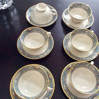 6 Lenox Autumn Cups and Saucers -