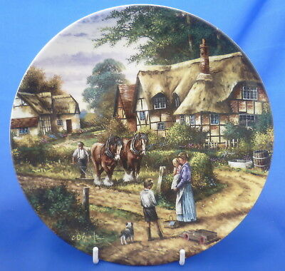 Wedgwood Country Days Collector Plate By Chris Howells - Ploughing
