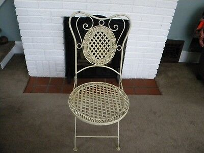 Outdoor Iron Folding Chair (19/20th Cent)