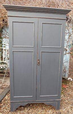 Victorian  Painted  Wardrobe  Distressed  /  Shabby  Chic