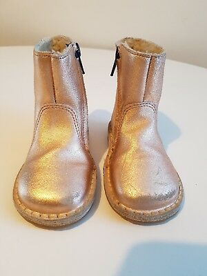 Mini Boden Girls Rose Gold Ankle Boots, EU 22 UK 5, RRP £45