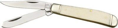 Rough Rider Mini Trapper Pocket Knife Stainless Steel Blade Smooth Bone Handle