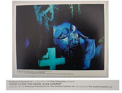 """Alice Cooper Good To See You Again 1974 """"GRAVEYARD SCENE"""" Lobby Card - RARE !!!"""