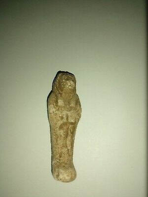Ancient Egyptian Shabti w/ Deity On Front Anubis? RARE