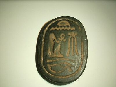 Ancient Egyptian Very Large Scarab Black Color Beautiful Rare