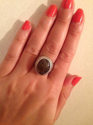 Yemeni Old Silver Ring With Agate Aqeeq Stone