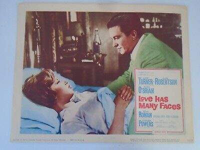 Lobby Card 1964 LOVE HAS MANY FACES Lana Turner Cliff Robertson Hugh O'Brian