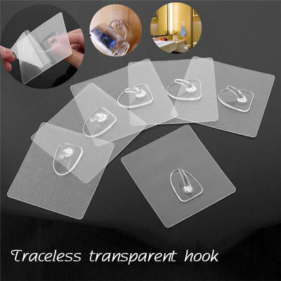 20Pcs Anti-skid Hooks Wall Door Scrub Strong Sticky Traceless Transparent Hook N