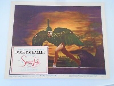 #2 Lobby Card 1960 Bolshoi Ballet SWAN LAKE Columbia Picture