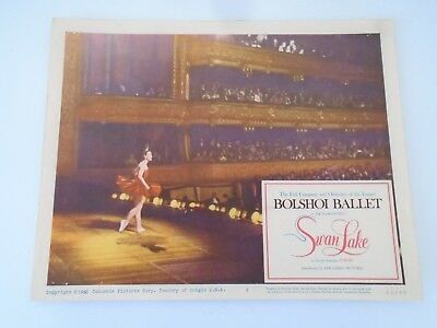 #6 Lobby Card 1960 Bolshoi Ballet SWAN LAKE Columbia Pictures