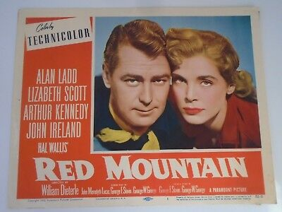 L5 Lobby Card 1952 RED MOUNTAIN Alan Ladd Lizabeth Scott Arthur Kennedy