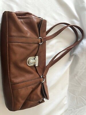 3a8e6cea82 Prada Vitello Easy Brown Soft Leather Dual Handle Satchel Shoulder Flap Bag