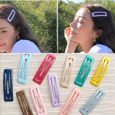 2PCS Korean Women Girls Gifts BB Hair Clip Candy Color Seaside Pins 12 Colors