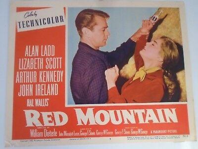 L2 Lobby Card 1952 RED MOUNTAIN Alan Ladd Lizabeth Scott Arthur Kennedy