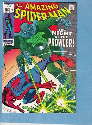Amazing Spider-Man #78, 1969, FN 6.0, origin and first appearance the Prowler