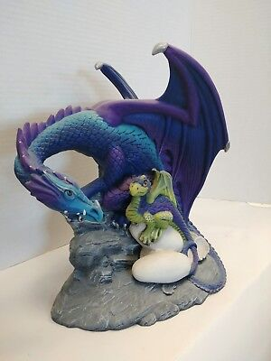 Ceramic Dragon with Young Finished