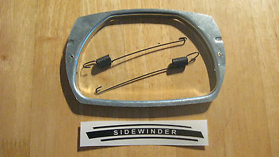 vespa h/lamp retainer plate & retension springs 50 special smallframe t3 new