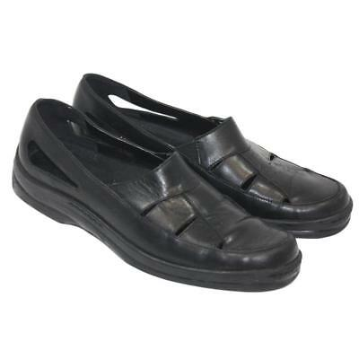 Naturalizer Ladies Womens Black Leather Slip On Comfort Casual Shoes Size 8.5M