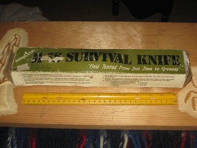 lot A,vintage knife,Imperial M-7S Survival,civilian model military,camping,rare!