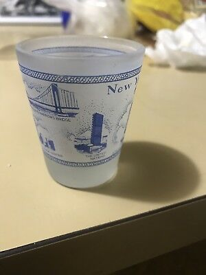 New York City With Historical Places Including Twin Towers Shot Glass