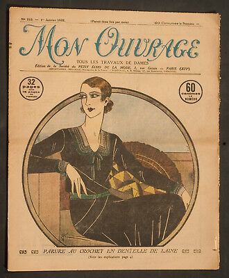 'mon Ouvrage' French Vintage Newspaper 1 January 1932