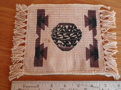 Small Vintage Native American Hand Woven Textile Rug Runner Blanket Mat