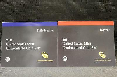 2011 P D US MINT SET 28 COINS WITH COA in OGP