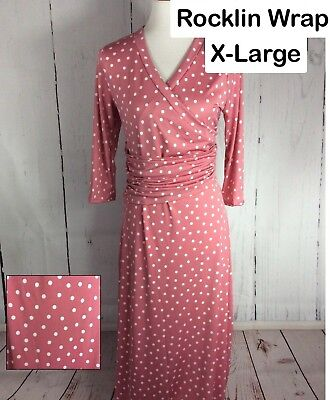Piphany/Honey & Lace Rocklin Wrap-XLarege-Pink with White Polka Dots