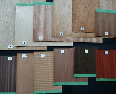 Hardwood Veneer Antique Clock or Furniture Repair Parts - Assortment B