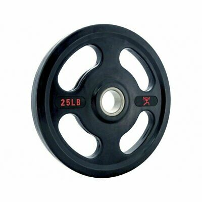 25 Lb Olympic Weights - Cff Rubber Coated Olympic Grip Plates - Pair