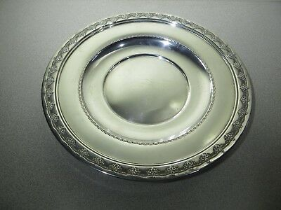 "REED & BARTON Sterling Silver Serving Tray / Dish - 9 1/2"" - X456 -Tara Pattern"