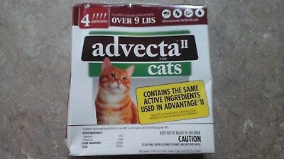 NEW Advecta II Flea Treatment for Cats over 9 lbs 4 Month Supply HUGE SALE!