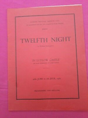 2 theatre programmes. Shakespeare outside in Ludlow Castle. 1962 and 1963