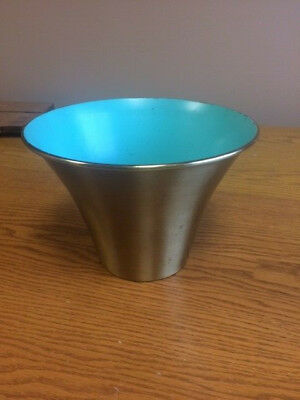 Vintage MCM Atomic Planter Inc Brass Bullet  Planter Chicago Model JC6 Old