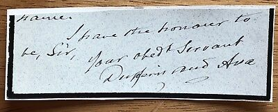 Lord Dufferin, Governor General of India & Canada Autograph