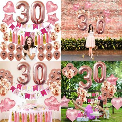 30Th Birthday Decorations Women Party Supplies Dirty Thirty Balloons ROSE GOLD