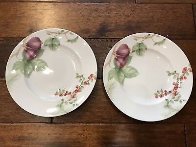 2 -- Lenox Winter Garden dessert/salad plate, fig with wintergreen