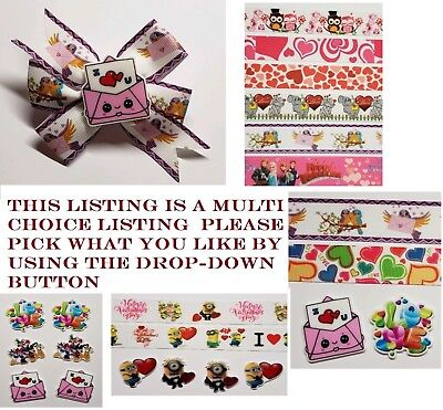 Mixed lot Valentine's day Inspired Ribbon and resins please pick what you like