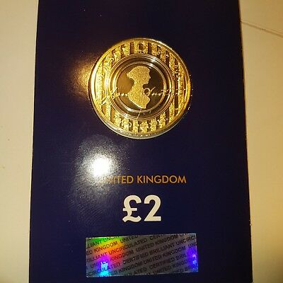 2017 Jane Austen £2 Two Pound Brilliant UNCIRCULATED UK Coin New
