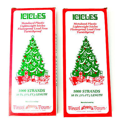 Christmas Tree Icicles Tinsel.Christmas Tree Icicles Miniature Tinsel Strands Silver