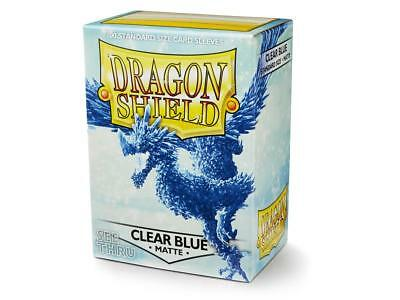 Matte Clear Blue 100 ct Dragon Shield Sleeves Standard FREE SHIPPING! 5% OFF 2+