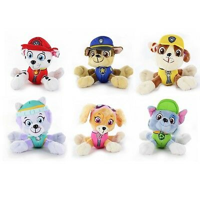 "Set of 6X Nickelodeon Paw Patrol 5"" Pup Pals Stuffed Plush Doll Kids Gift Toy"