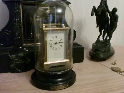 Mappin And Web Top Quality Carriage Clock With Glass Dome And Plinth Minted