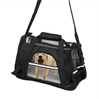 Cat Dog Crate Soft Sided Pet Carrier Foldable Travel Bag Airline Approved