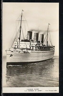 Canada-Pacific Ship SS Empress Of Japan Real Photo Unused L35